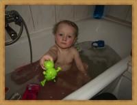 hubercik w kąpieli