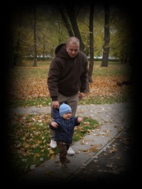 z tatusiem na jesieni :)